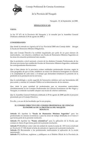 Consejo Profesional de Ciencias Económicas de la Provincia del ...