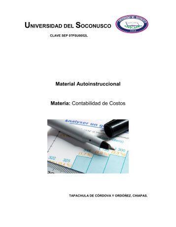 Contabilidad de Costos - Plataforma Virtual CUCS - Universidad del ...