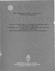 Informe del Ministro de Cultura y Educación - Repositorio ...