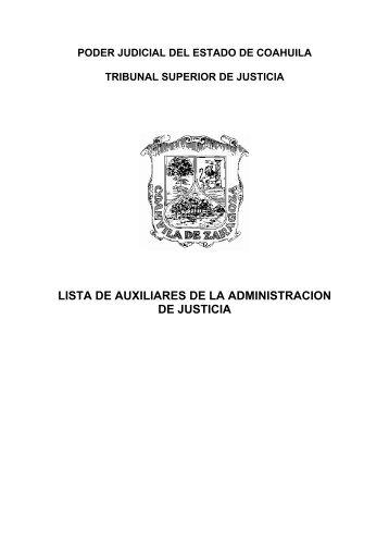 lista de auxiliares de la administracion de justicia - Poder Judicial ...