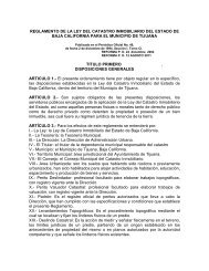Reglamento de la Ley del Catastro Inmobiliario para el ... - Tijuana