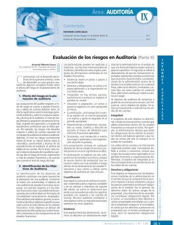 Área: AUDITORÍA - Revista Actualidad Empresarial