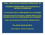 Congreso Santo Domingo 19 y 20 julio - Instituto de Tasadores ...