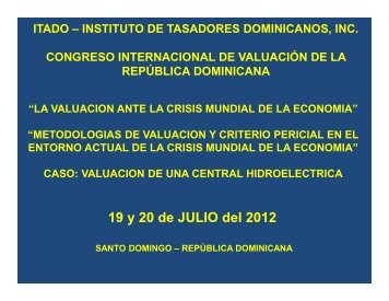 Congreso Santo Domingo 19 y 20 julio - Instituto de Tasadores ...