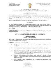 LEY DE CATASTRO DEL ESTADO DE CHIHUAHUA