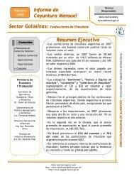 Informe de Coyuntura Mensual Sector Golosinas - Alimentos ...