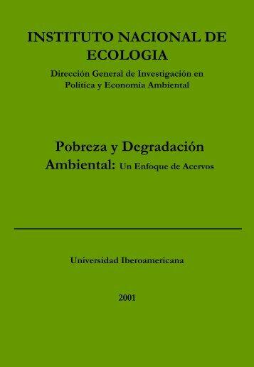Degradación ambiental - Instituto Nacional de Ecología