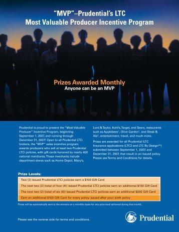"""MVP""–Prudential's LTC Most Valuable Producer Incentive Program"