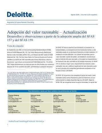 Adopción del valor razonable – Actualización - IAS Plus
