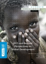 2015 and Beyond: Perspectives on Global Development