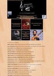 21, 22 e 23 de Agosto de 2009 - Cantadores do Litoral