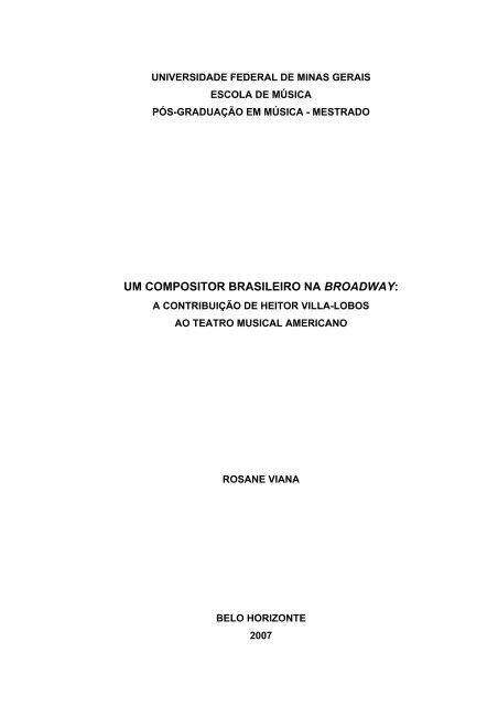 um compositor brasileiro na broadway - Biblioteca Digital de Teses ...
