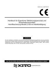 Betriebsanleitungen - Kito.net