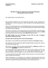Erteilung einer Einzugsermächtigung und eines SEPA ... - Saarlouis