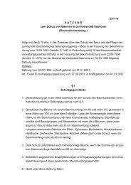 Satzung Schutz von Bäumen - Saarlouis