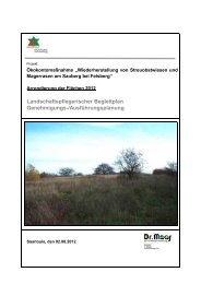 Maßnahmen im Rahmen des Ökolkontos - Saarlouis