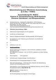 Bekanntmachung einer Öffentlichen Ausschreibung ... - Saarlouis