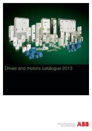 Drives and motors catalogue 2013