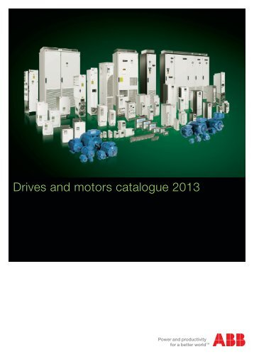 Drives and motors catalogue 2013