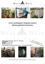 Resteliste WKI 011012 - Weis und Weis Auktionen GmbH