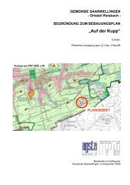 Begründung zum Bebauungsplan mit Umweltbericht - Gemeinde ...