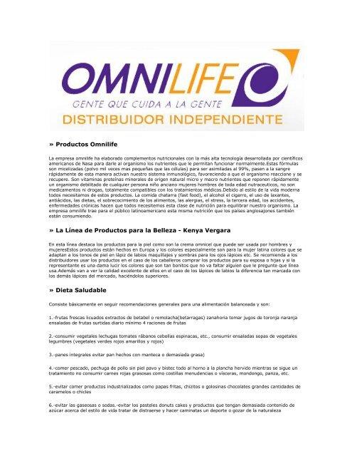 combinacion de productos omnilife para bajar de peso