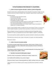 10 PAUTAS BÁSICAS PARA REDUCIR TU COLESTEROL - Oriflame