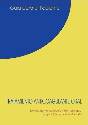 TRATAMIENTO ANTICOAGULANTE ORAL - Fisterra