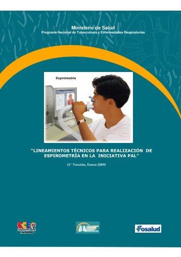 Lineamientos técnicos para realización de espirometría en la ...