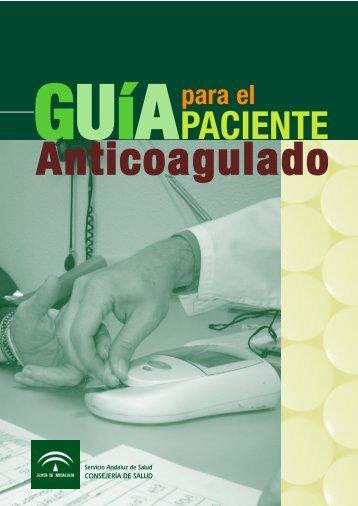Guía para el paciente anticoagulado - Junta de Andalucía