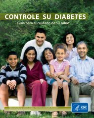Controle su diabetes - Centers for Disease Control and Prevention