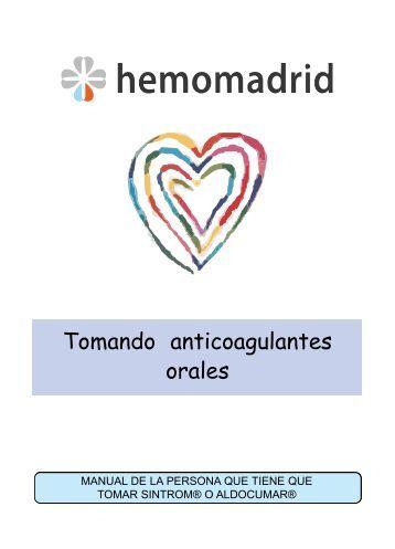 Tomando anticoagulantes orales - Hemomadrid