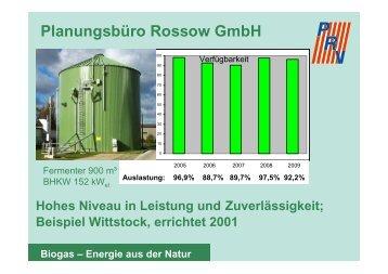 Beispiele für Dauerleistungen von Biogasanlagen - Planungsbüro ...