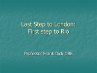 Last Stop to London: First step to Rio - HP