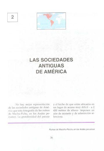 Las sociedades antiguas de América.