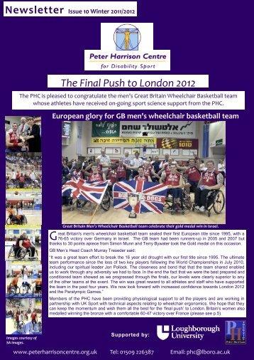 The Final Push to London 2012 - Loughborough University