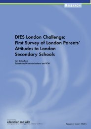 DfES London Challenge - Department for Education