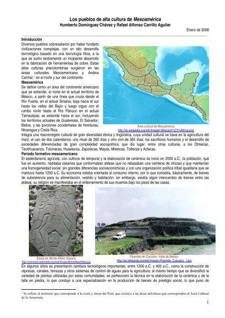 Los Pueblos De Alta Cultura De Mesoamérica Portal