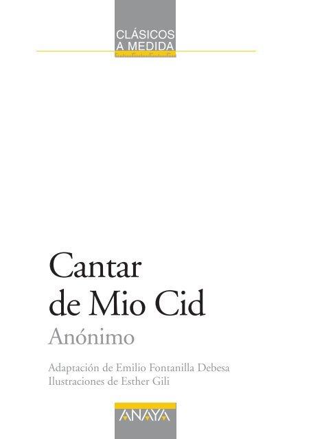 Cantar De Mio Cid Edicin Adaptada Captulo 1 Anaya Infantil Y