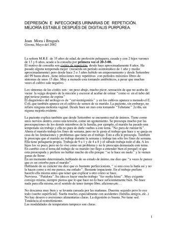 depresión e infecciones urinarias de repetición - Alba Mora Roca