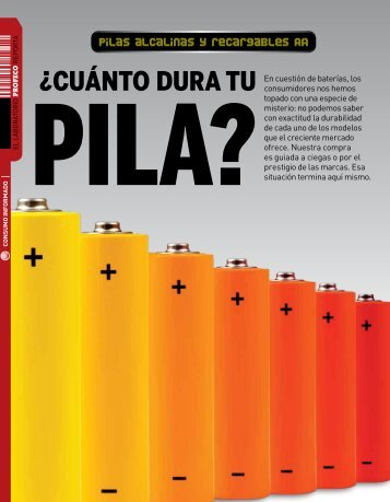 ¿CUÁNTO DURA TU - Revista del Consumidor