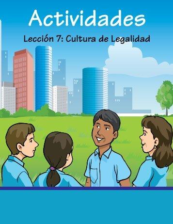 Actividad Lección No.7: Cultura de Legalidad. Estado de Derecho y ...