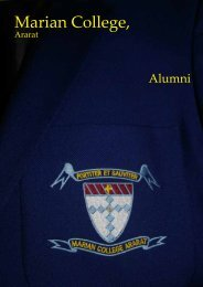 Alumni Newsletter - Marian College