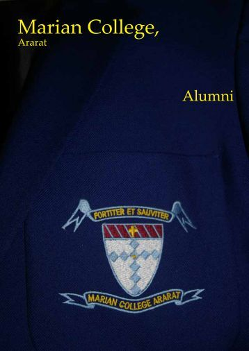 Alumni Newsletter - Marian College