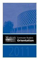 Commuter student orientation 2011 - Marian University