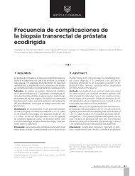 Frecuencia de complicaciones de la biopsia ... - edigraphic.com