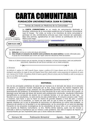 carta comunitaria carta comunitaria - Fundación Universitaria Juan ...