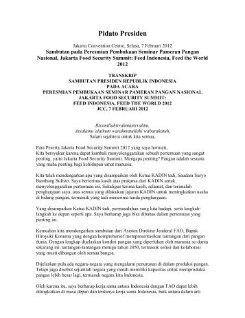 Pidato Presiden - Kadin Indonesia