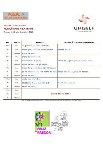 Todas as semanas - Agrupamento de Escolas de Vila Verde