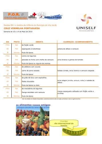 1º Ciclo - restantes semanas - Agrupamento de Escolas de Vila Verde
